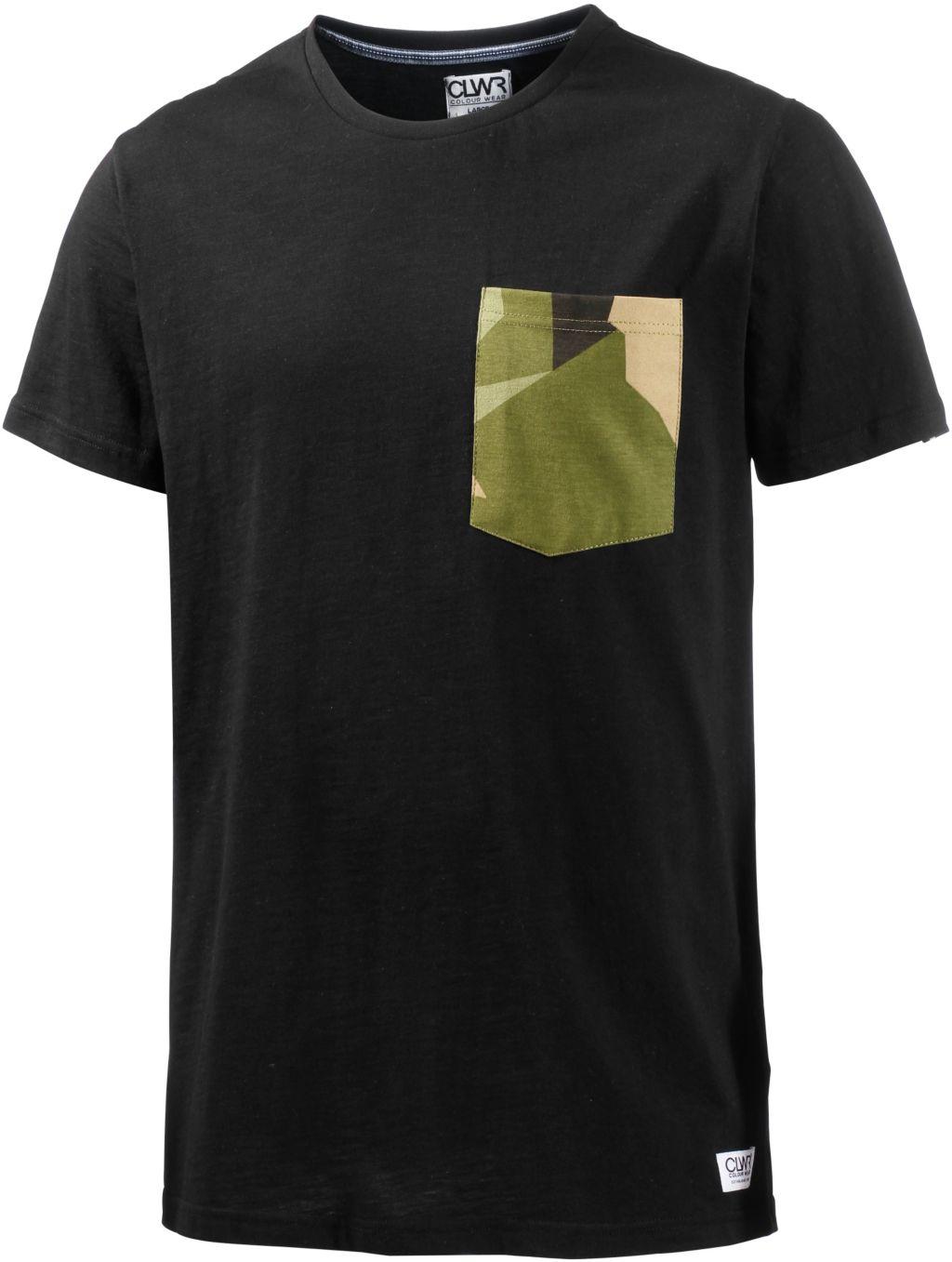 Artikel klicken und genauer betrachten! - Colour Wear POCKET. T-Shirt mit gemusterter Brusttasche, Rundhalsausschnitt und kurzen Ärmeln; Material 100% Baumwolle.   im Online Shop kaufen
