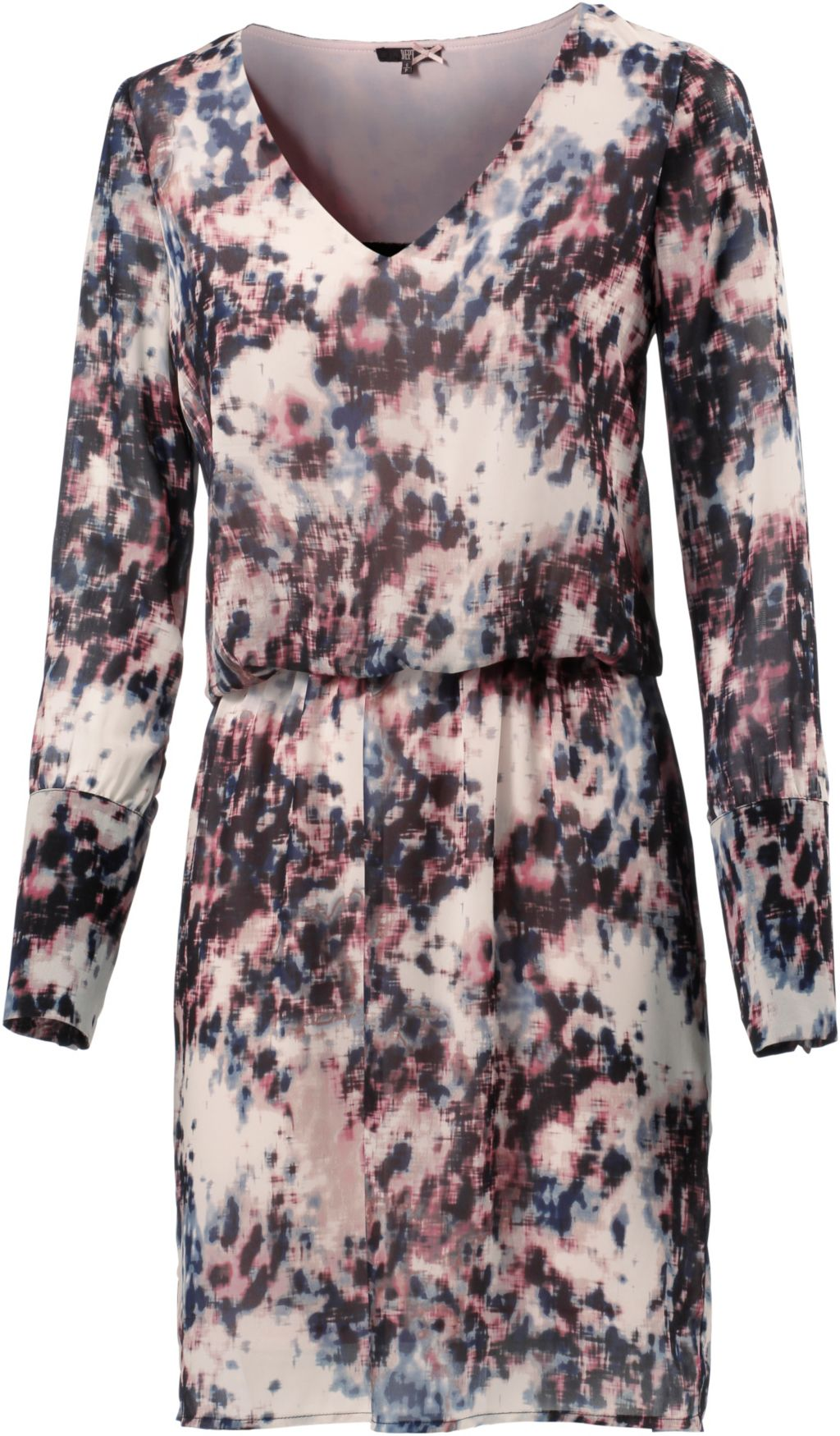 D.E.P.T Kleid Langarmkleid Damen in weiß/blau/rose, Größe L