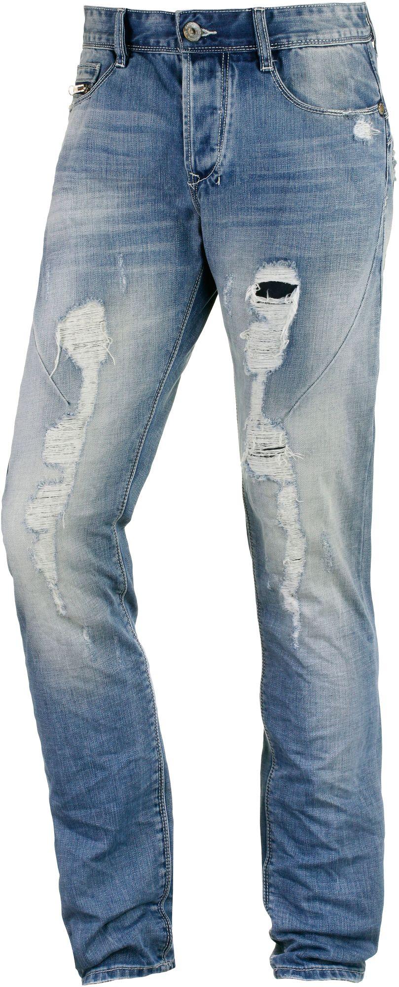 Leo Slim Fit Jeans Herren in blau, Größe 36 / 32