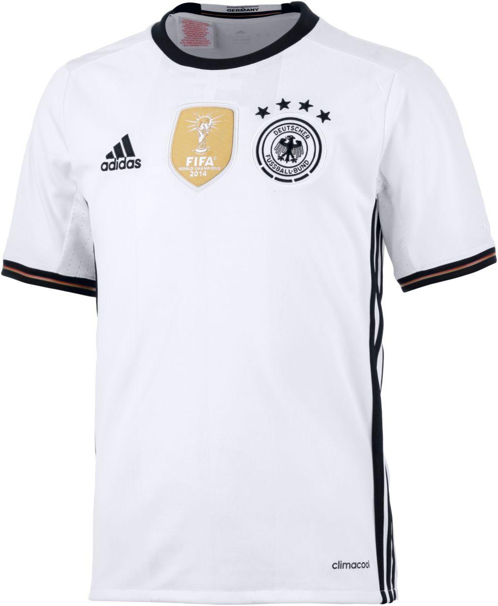 DFB EM 2016 Heim Fußballtrikot Kinder in weiß, Größe 176