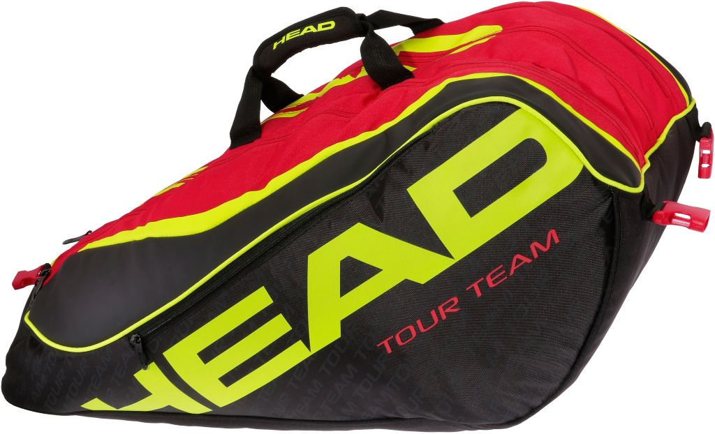 Extreme 12R Monstercombi Tennistasche in schwarz/rot/gold