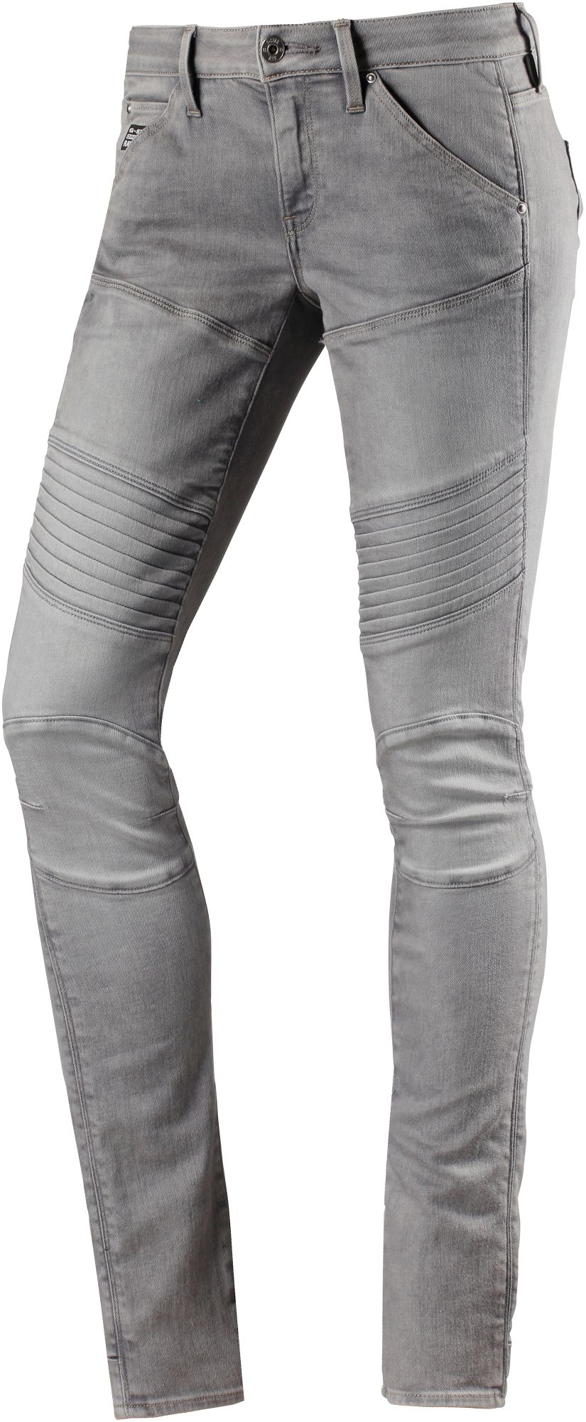 5620 Custom Mid Skinny Fit Jeans Damen in grey denim, Größe 26 / 32
