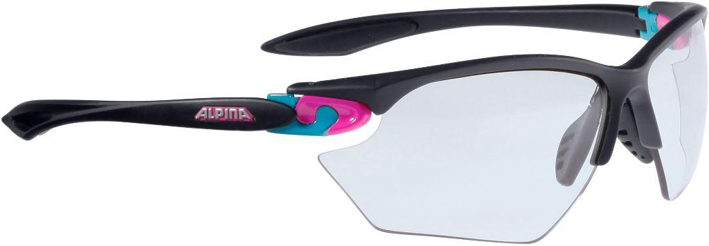 Sportbrille in schwarz/ pink/ blau