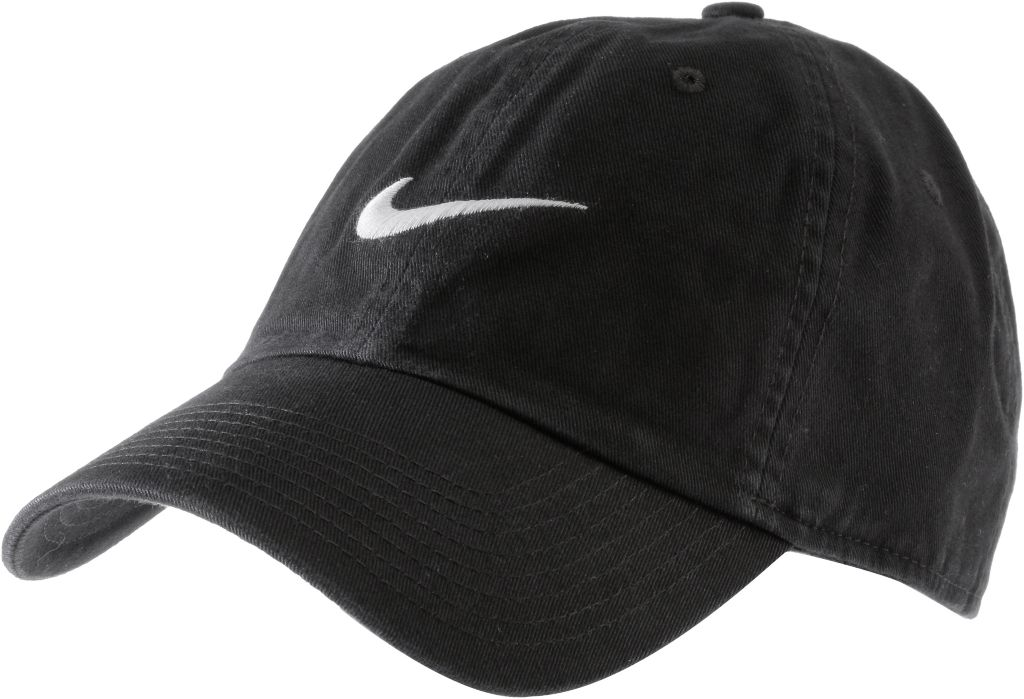 Swoosh Cap in schwarz