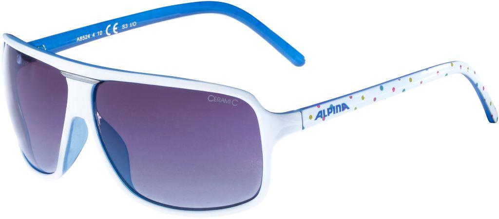 Sonnenbrille in white dots-blue
