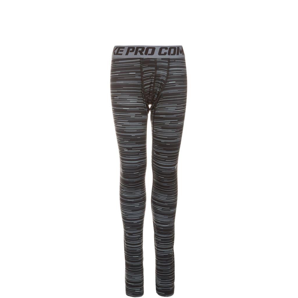 Nike Tights Jungen in schwarz / grau, Größe 152