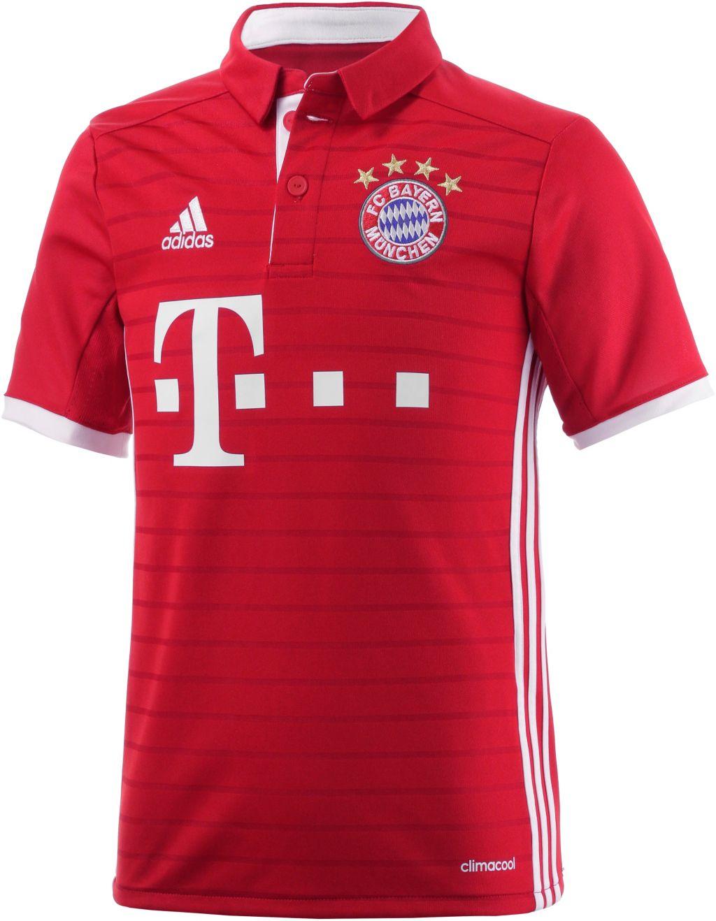 adidas FC Bayern München 16/17 Heim Fußballtrikot Kinder in rot, Größe: 152