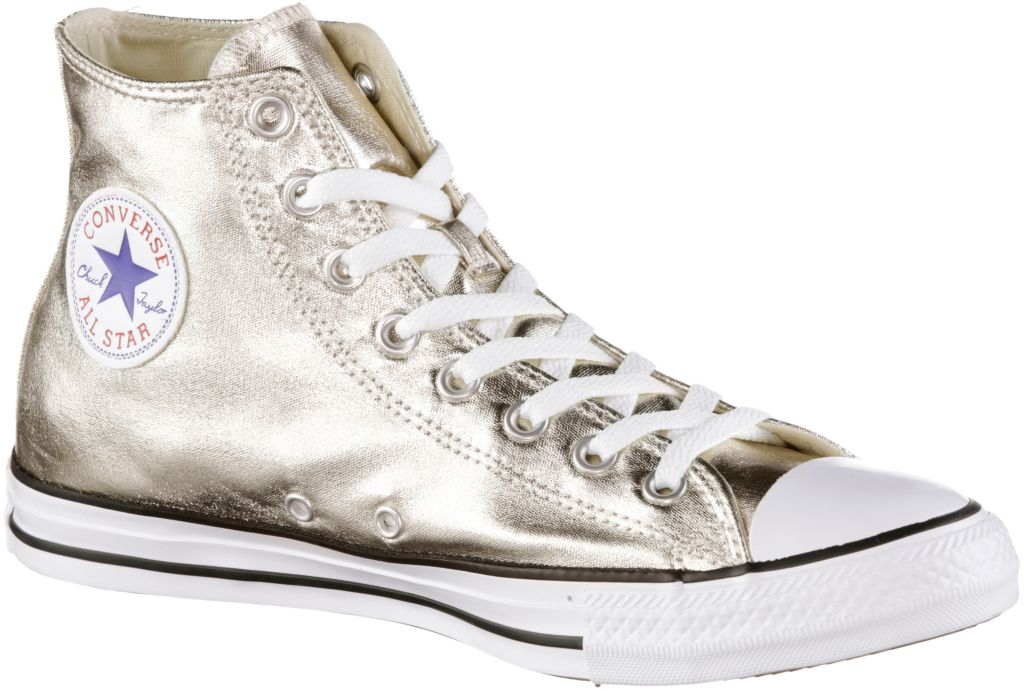 Chuck Taylor All Star Hi Metallics Sneaker Damen in Gold, Größe 37