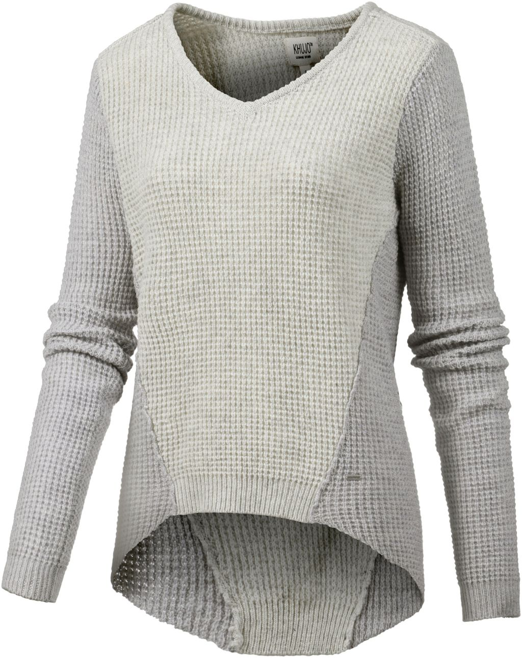 V-Pullover Damen in grau, Größe S