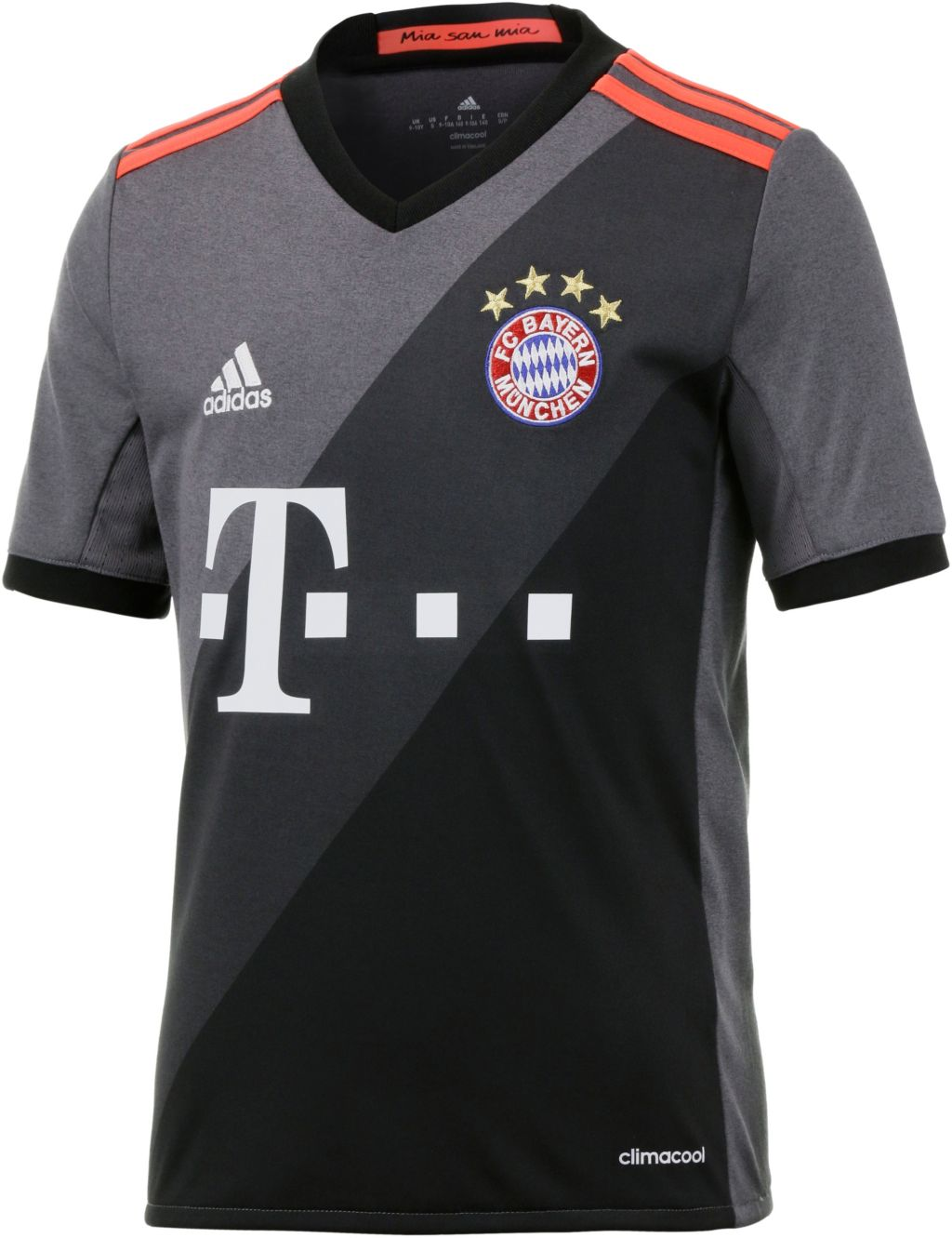 FC Bayern München 16/17 Auswärts Fußballtrikot Kinder mehrfarbig, Größe 128