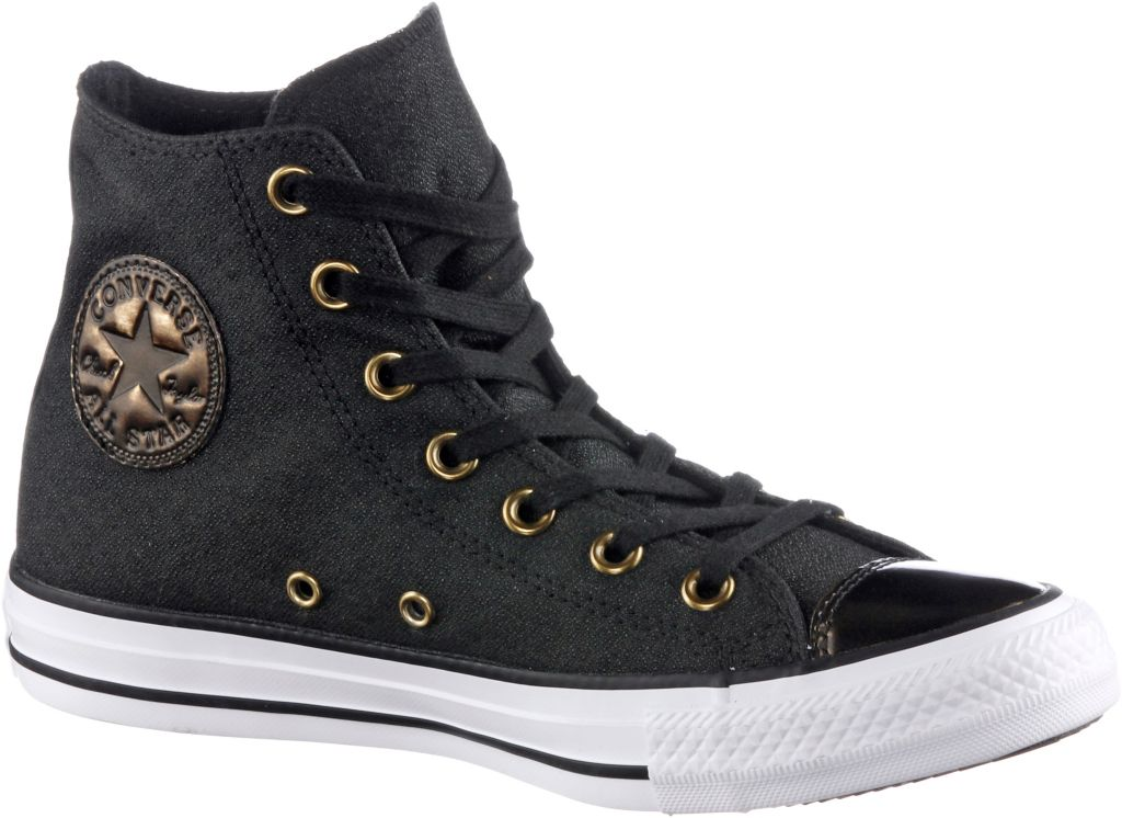 Chuck Taylor All Star High Sneaker Damen in schwarz, Größe 37
