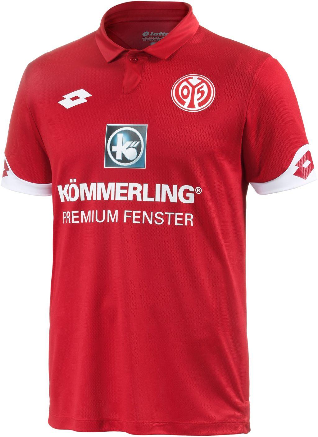 1. FSV Mainz 05 16/17 Heim Fußballtrikot Herren in rot, Größe L