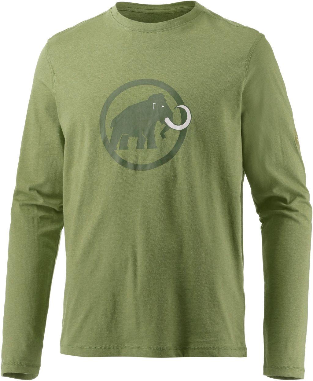Logo Langarmshirt Herren in grün, Größe XL
