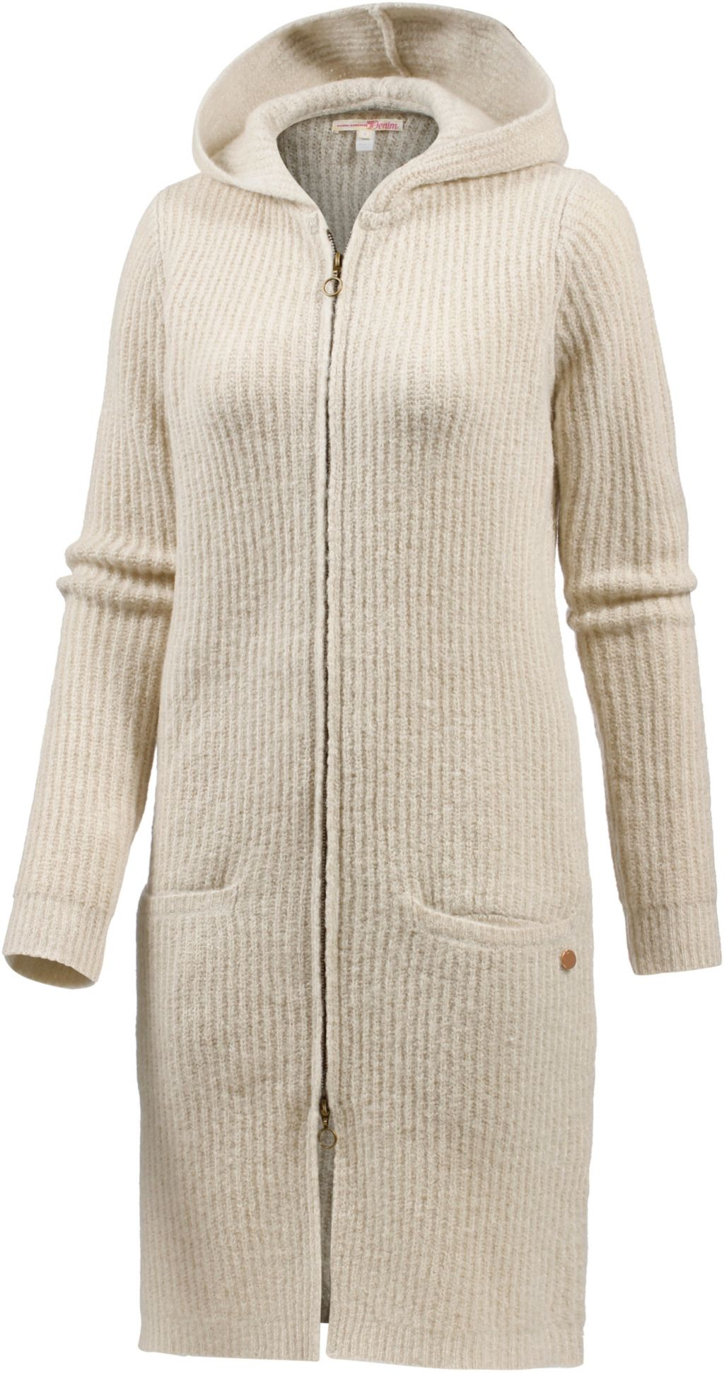 TOM TAILOR Strickmantel Damen in beige, Größe S