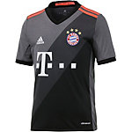 adidas FC Bayern München 16/17 Auswärts Fußballtrikot Kinder grau/schwarz
